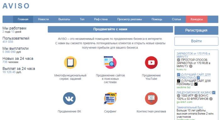 сайт Aviso.bz
