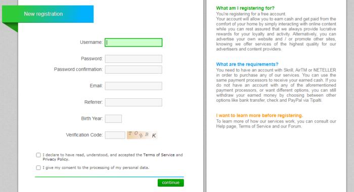 регистрация Neobux.com