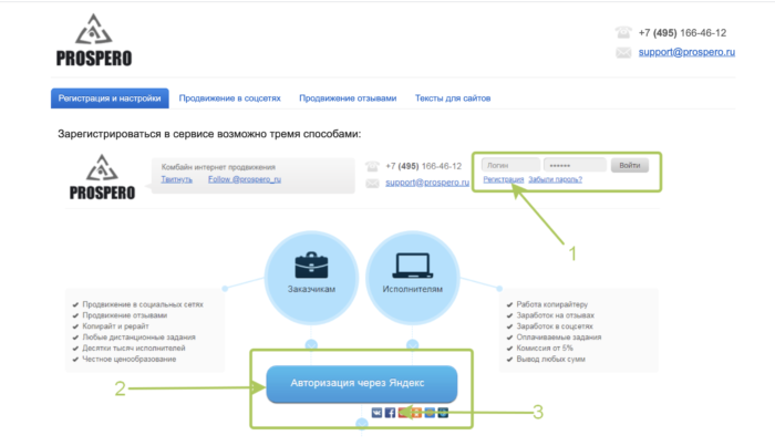 prospero.ru авторизация