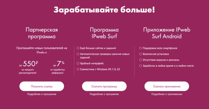 ipweb.ru преимущества