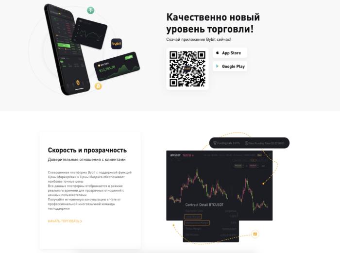 Bybit.com условия торговли