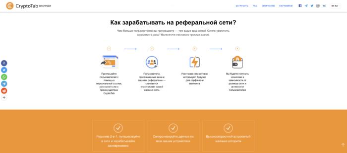 cryptotabbrowser.com как зарабатывать
